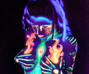 neon and girl image