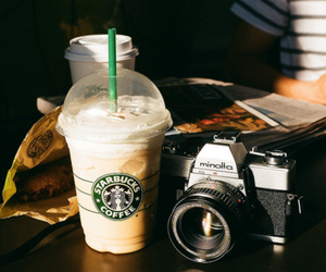 starbucks, camera, and photography image