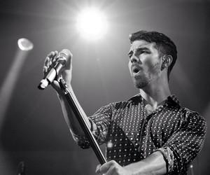 Joe Jonas, jonas brothers, and black and white image