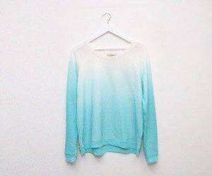 blue, sweater, and white image