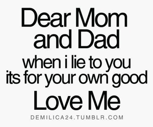 lies, mom, and dad image