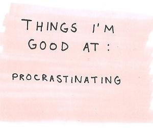 pink and procrastinate image