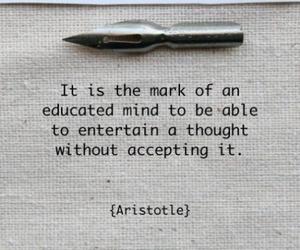 quote, aristotle, and wisdom image