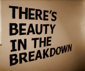beauty, breakdown, and text image