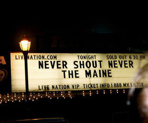 the maine, never shout never, and band image