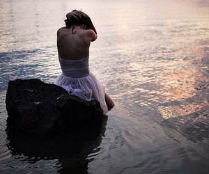 girl, water, and back image