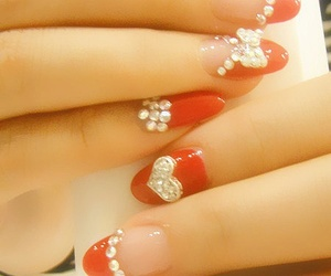 nails, red, and cute image
