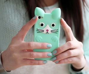 girl, cute, and case image