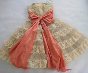 bow, dress, and peach image