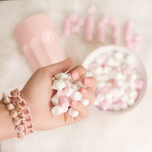 candies, eat, and pink image
