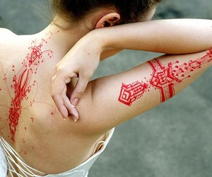 tattoo and red image