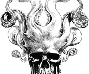 skull, drawing, and art image