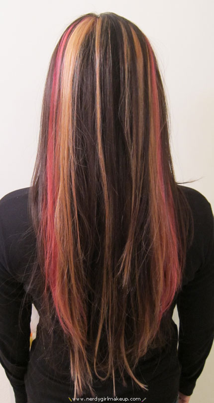 Pink And Blonde Highlights Shared By Gabriela Contreras
