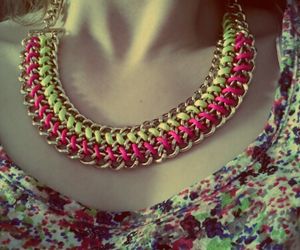 fashion, flowerpower, and neckles image