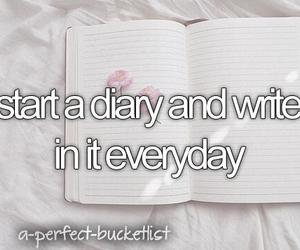 diary and wish image