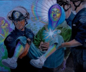 drugs, art, and peace image