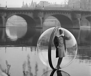 bubbles, black and white, and vintage image