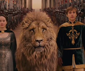 lion, Lucy, and narnia image