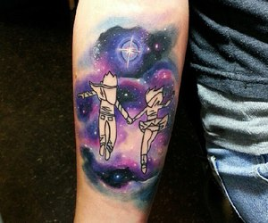 couple, space, and tattoo image