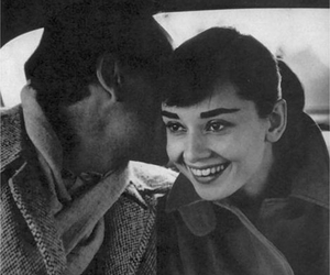 audrey hepburn, couple, and black and white image