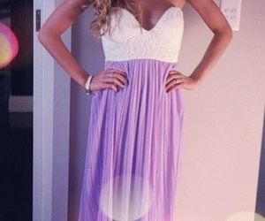 dress, purple, and clothes image