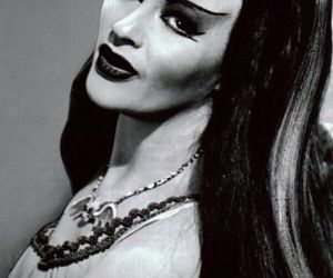 black and white and Lily Munster image