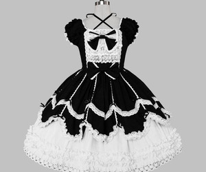 dress, goth, and gothic image