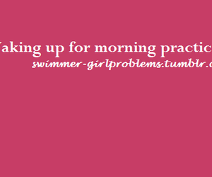 morning, practice, and swim image