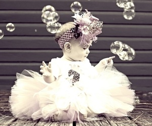 baby, bubbles, and photography image