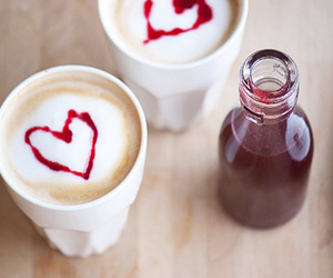 drink, heart, and coffee image