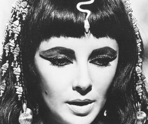 cleopatra, Elizabeth Taylor, and black and white image