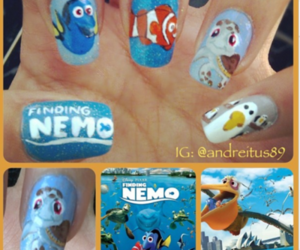 finding nemo, cute, and nails image