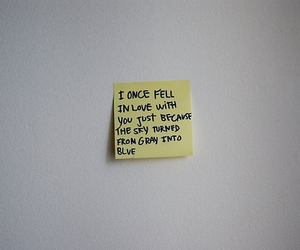 post-it and love image