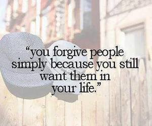 quote, life, and forgive image