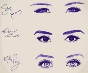 demi lovato, eyes, and miley cyrus image