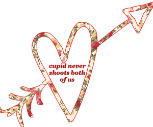 cupid, flowers, and love image