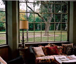 interior, room, and bay window image