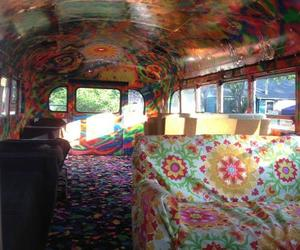 bus, hippie, and colors image
