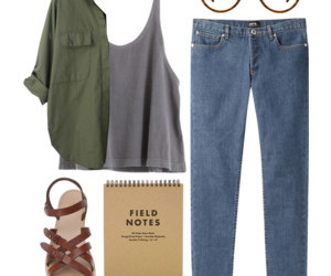 fashion, jeans, and flat sandals image