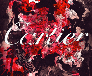 cartier, fashion, and flowers image