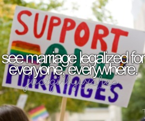 marriage, support, and gay image