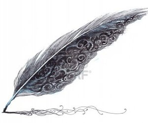 feather, black, and draw image