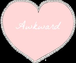 awkward, heart, and pink image