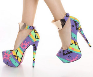 fashion, shoes, and colorful image