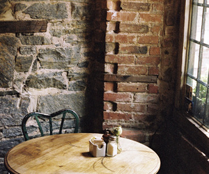 cafe, table, and vintage image