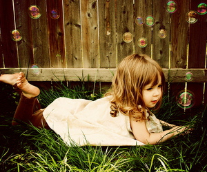 bubbles, dress, and girl image