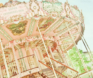 carousel, color, and pink image