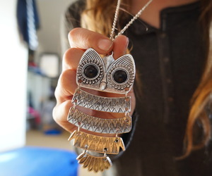 owl, necklace, and cute image