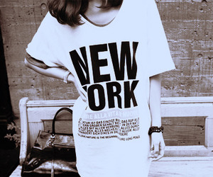 girl, new york, and cute image