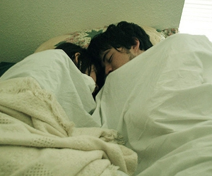 bed, cute, and sleeping image